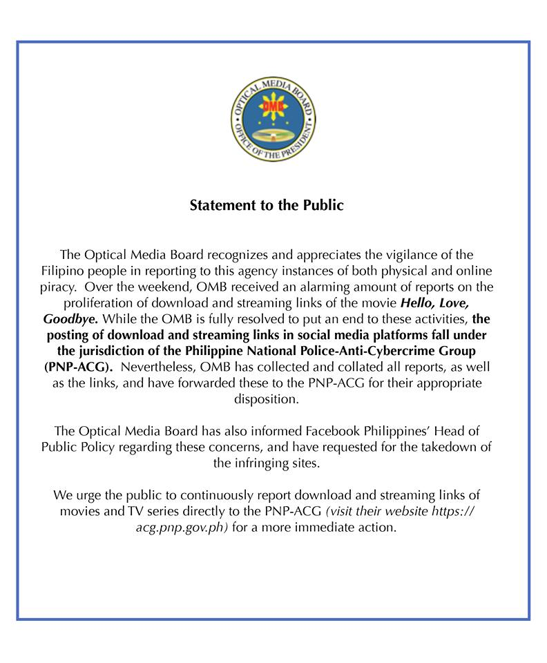 Statement to the Public